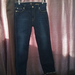 Gently worn ankle straight jeans